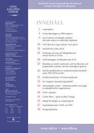INNEHÅLL - Svensk Lungmedicinsk Förening