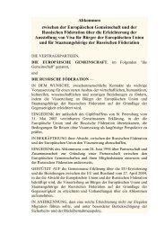 Abkommen zwischen der Europäischen ... - VHS Germany