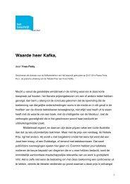Brief aan Franz Kafka - Passa Porta