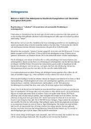 Motion nr 8/2011 från Aktiespararna Stockholm Kungsholmen och ...