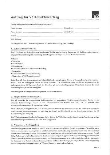 Auftrag für VZ Kollektivvertrag - BSLA
