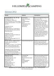 Se vores kalender, klik her - Hillerød Camping