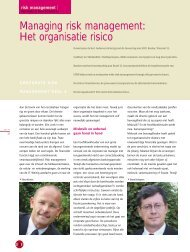 Managing risk management: Het organisatie risico - Orchard Finance