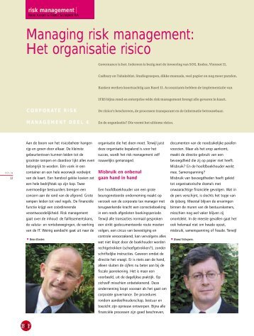 Managing risk management: Het organisatie risico - Orchard Finance