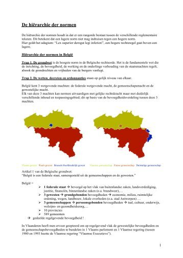 De hiërarchie der normen - Brandweer Vereniging Vlaanderen
