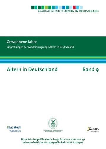 Altern in Deutschland Band 9 - Bibliothek und wissenschaftliche ...