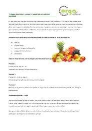 7 dages kostplan - vejen til vægttab og optimal sundhed