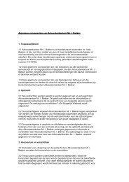 Algemene voorwaarden van Advocatenkantoor Mr. I. Bakker 1 ...