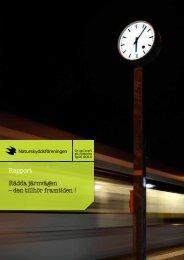 Rapport Rädda järnvägen - Naturskyddsföreningen