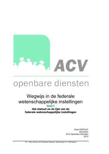 Wegwijs FWI deel I - ACV Openbare Diensten