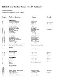 Bekijk hier de lijst met boeken - Kantclub De Vlasblomme
