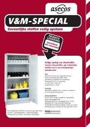Gevaarlijke stoffen veilig opslaan V&M-SPECIAL - MF Safe & Clean