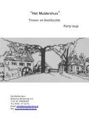 Arrangementen en buffetten - Het Muldershuis