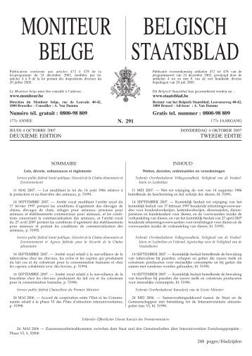 Staatsblad Moniteur - Beldonor