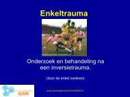 Enkeltrauma - Groningen Sport Revalidatie