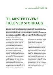 TIL MESTERTYVENS HULE VED STORHAUG - Lillomarkas Venner