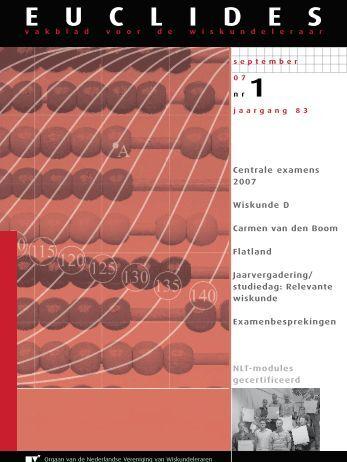 83-1 - Nederlandse Vereniging van Wiskundeleraren
