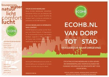 Download onze brochure - Stichting ECOHB Nederland