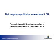 Det ungdomspolitiska samarbetet i EU - Ungdomsstyrelsen