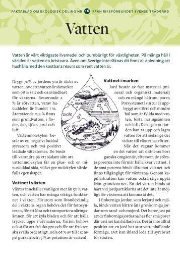 16. Vatten - Riksförbundet Svensk Trädgård