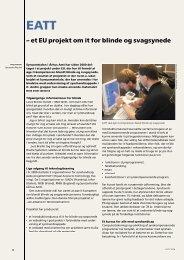 et EU projekt om it for blinde og svagsynede - Hjælpemidler