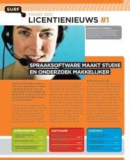 Lees SURF Licentienieuws #1 2012 online (pdf) - SURFmarket