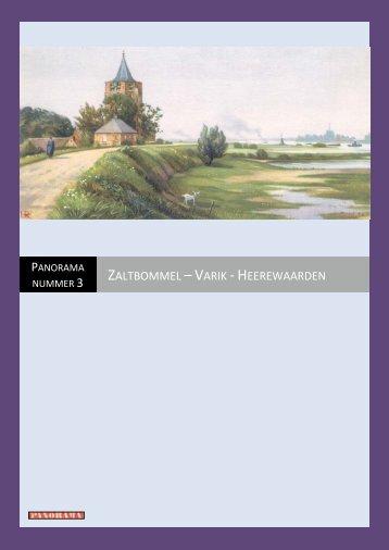 Zaltbommel - Varik - Heerewaarden - Voortschrijdende Inzichten