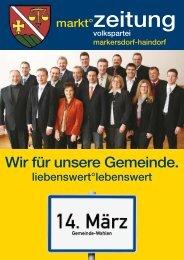 "Bürgermeisterkandidat Friedrich ""Fritz"" Ofenauer - Markersdorf ..."