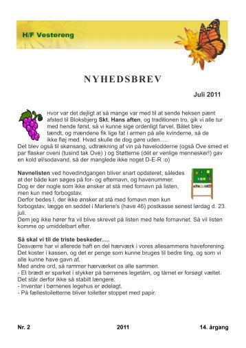 NYHEDSBREV Juli 2011 - H/F Vestereng