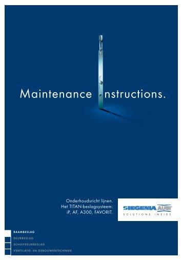 onderhoudsvoorschriften ramen - Geco.be