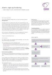Pjece om alarm, vagt og forsikring - Forsikring & Pension