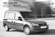 OPEL Combo 2010 - autoservice.fo