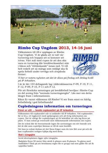 Rimbo Cup Ungdom 2013, 14-16 juni - Rimbo IF
