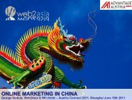 ONLINE MARKETING IN CHINA - Web2Asia