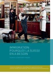 Brochure «Immigration: pourquoi la Suisse en a besoin