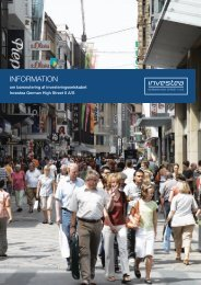 Informationsmateriale om Investea German High Street II A/S ...