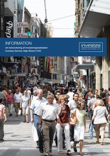 Informationsmateriale om Investea German High Street II A/S ...
