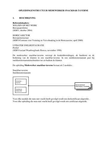 OPLEIDINGENSTRUCTUUR MEDEWERKER ... - CLW Gent
