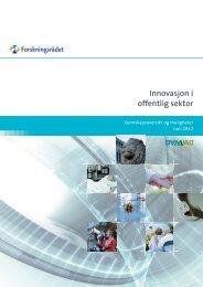 Innovasjon i offentlig sektor- Kunnskapsoversikt og muligheter
