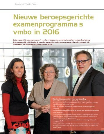 Artikel in Van 12 tot 18 - Vernieuwingvmbo.nl