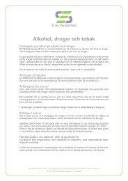 Alkohol, droger och tobak