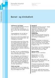 Barsel- og klinikafsnit - EPIS - Gentofte Hospital