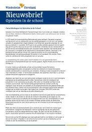 Ontwikkelingen bij Opleiden in de School - Windesheim Flevoland