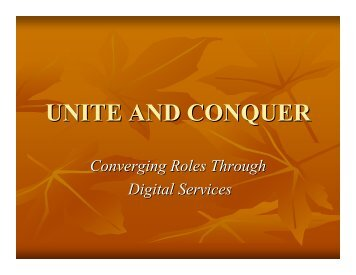 UNITE AND CONQUER - Promotion Dossier for John Millard