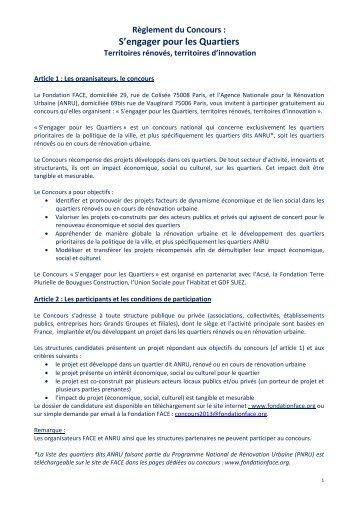 """"""" S'engager pour les quartiers 2013"""" - pdf - Anru"""