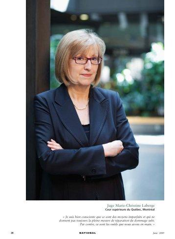 Juge Marie-Christine Laberge - Centre de recherche en droit public ...