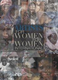 Artists for Women For Women International Cotalogue - Servane Mary