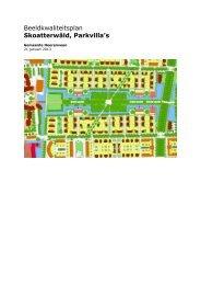 ontwerp-beeldkwaliteitsplan Skoatterwâld, Parkvilla's - Wijk ...