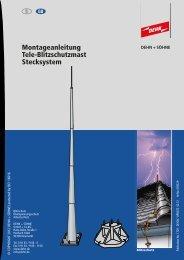 Montageanleitung Tele-Blitzschutzmast Stecksystem - DEHN (UK)