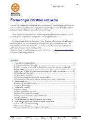 Försäkringar i förskola och skola - Nacka kommun